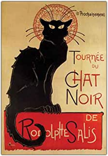 Tournee du Chat Nir by Theophile A Steinlen, 24x32-Inch Canvas Wall Art