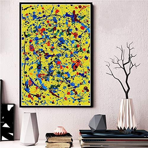 AQgyuh Puzzle 1000 Piezas Pintura Abstracta de Pollock Puzzle 1000 Piezas clementoni Rompecabezas de Juguete de descompresión intelectual50x75cm(20x30inch)