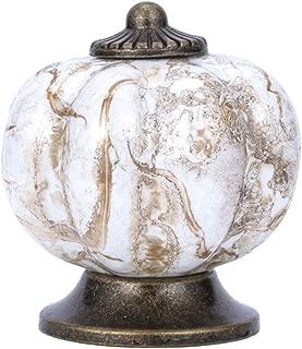 Pumpkin Knobs Kitchen Cabinet Dresser Counter-top Pull Antique Ceramic Handle 10pcs(Marble Pattern)