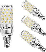 EBD Lighting 12W E14 LED Candelabra Light Bulbs (4 Pack),E14 Base LED Corn Bulb 3000K Warm White 120W Halogen Equivalent N...