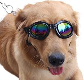 Dog Goggles Eye Wear Protection Waterproof Pet Sunglasses for Dogs About Over 6 KG Black