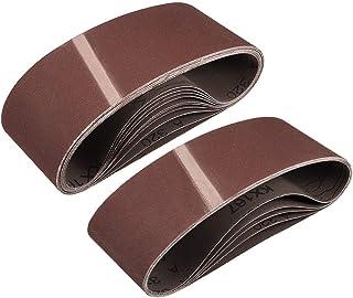 """3""""x 18"""" 320 kornslipbälte aluminiumoxid sandpappersbälten för bärbar rems slipmaskin träfinish metall gips polering slipni..."""