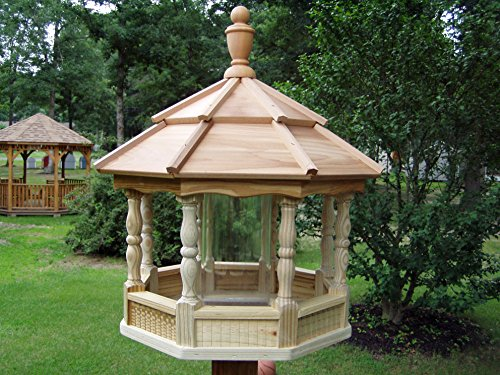 Amish Crafted Wooden Spindle Bird Feeder