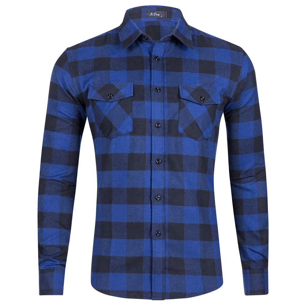 MCEDAR Flannel Shirts Long Sleeve Hanging