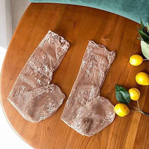 bayrick Calcetines de Agarre Manchado,Medias de Malla Sexy, Calcetines de Tubo, Medias de Encaje Transpirables * 5-1_A