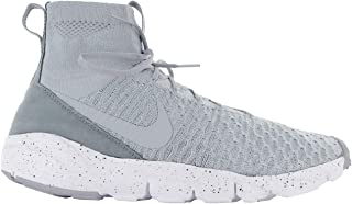 Nike Air Footscape Magista Flyknit Mens Trainers 816560 Sneakers Shoes (UK 9 US 10 EU 44, Wolf Grey Hyper Orange 005)