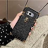 Galaxy Note 8 Grid Plaid Case,SelliPhone Luxury Design Cute Slim Diamond Lattice Soft TPU Trunk Case,Unique Women Girls Lady Phone Skin for Samsung Galaxy Note 8 (2017),Black