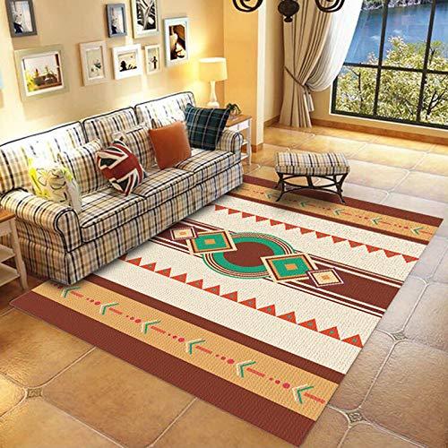Retro Einfache Linie Druckmatte Im Europäischen Stil rutschfeste Saugfähige Couchtisch Sofa Teppich Schlafzimmer Wohnzimmer Hotel Bed & Breakfast Party Teppich