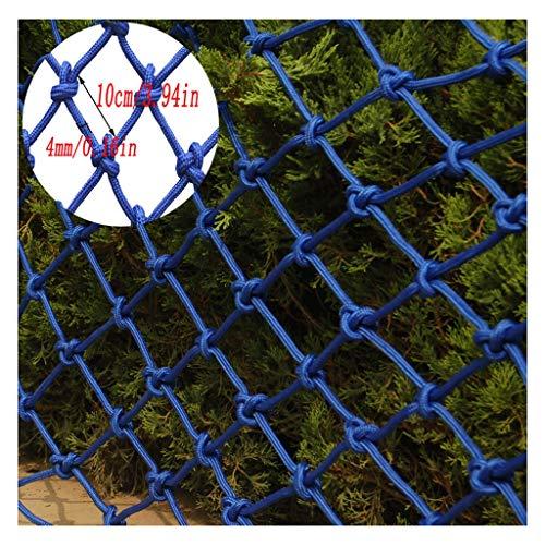 Myself-safety Sicherheitsnetz für Kindergeländer, Balkonkasten, Sicherheitsnetz, Schutznetz für Decken, blaues Schutznetz (Größe 10 cm / Stärke 4 mm) 2x6m