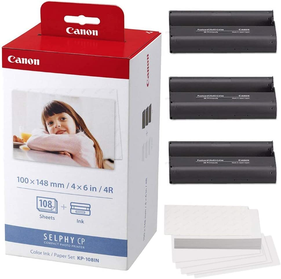 Canon KP-108IN Color Ink and Paper Fibertique + Set store Cleaning Sales Clo