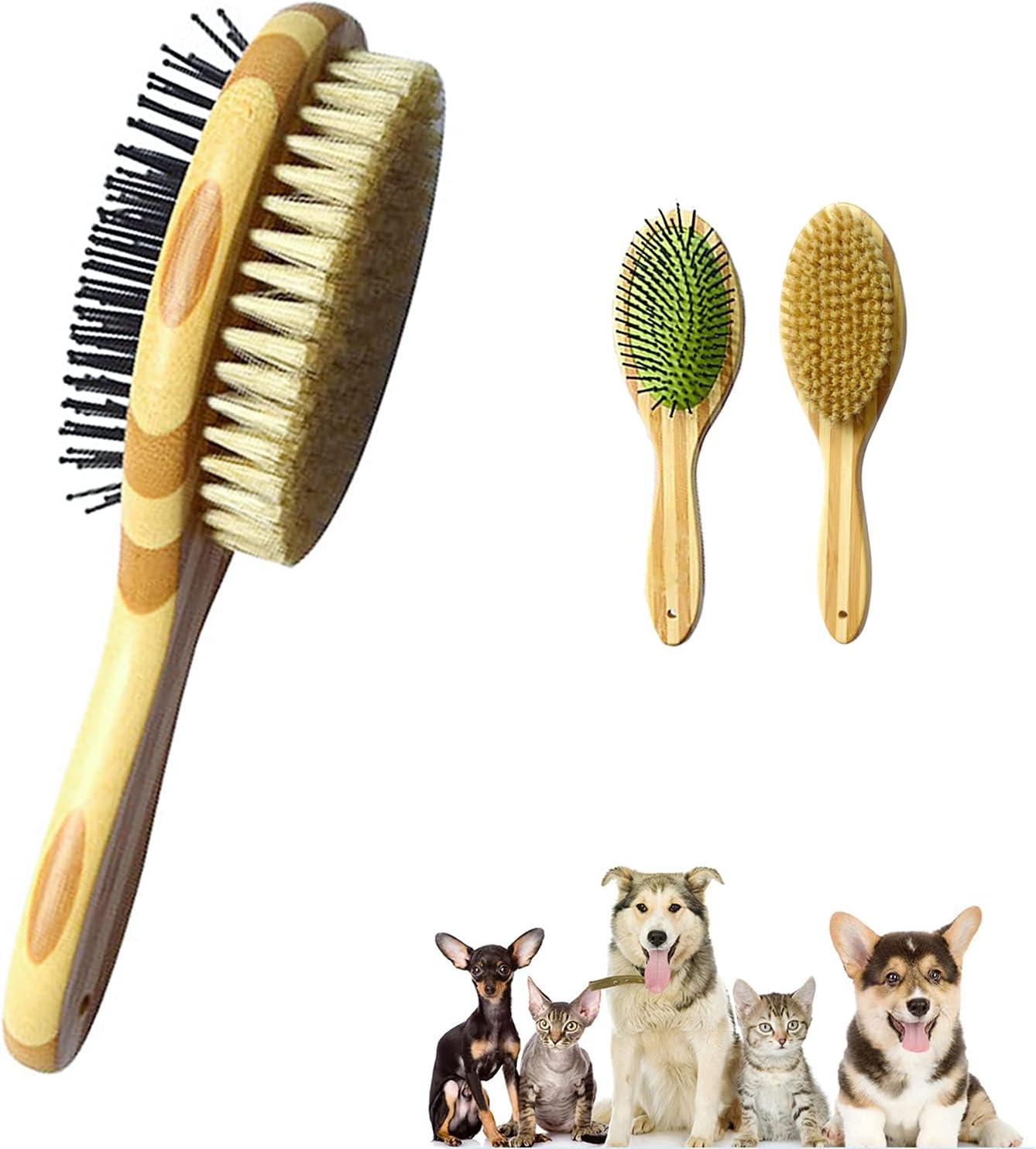 Peine para Mascotas, Cepillo Doble para Perro y Gato, 2 en 1 Peine de Masaje para Baño, Deshedding Cepillo para Perros y Gatos Pelo Corto Mediano o Largo Eliminar el Pelo Flotante