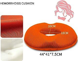 Almohada de cojín de asiento para silla de oficina, para el tratamiento de hemorroides Alivio para el dolor de coxis, Cojín de asiento de donut para silla de ruedas de automóvil de oficina en casa Estándar de almohada