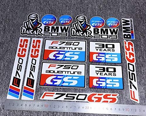 Aplicable a F750GS Etiqueta de la rueda motocicleta Pegatina Impermeable Reflexivo Pegatina Rueda delantera Rueda trasera de 19 pulgadas 17 pulgadas (Color : PEACOCK BLUE)