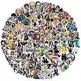 Aufkleber 198 PCS Anime Combo Sticker Pack für Laptop Vinyl Aufkleber Abziehbilder für Wasserflasche Skateboard Gepäck Hydro Flask Aufkleber Graffiti Phone Aufkleber für Erwachsene...