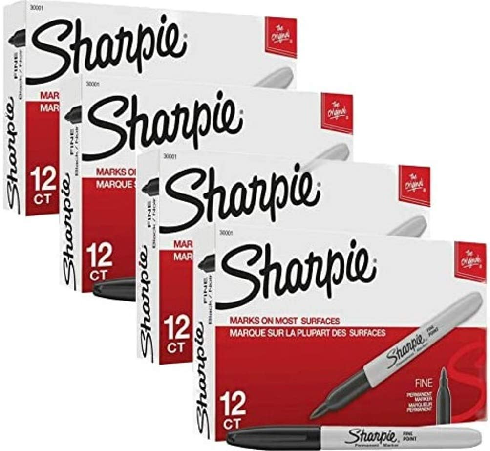 Sharpie Permanent Markers Overseas parallel import regular item Fine Point Black Ink Clearance SALE! Limited time! Count 48