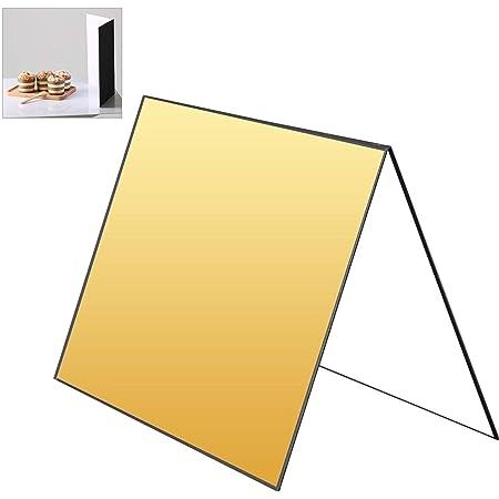 Lichtreflektor Aus Karton 3 In 1 Faltbar Für Fotografie Studio Tischplatte Lebensmittel Und Produktfotoshooting Schwarz Silber Und Weiß Baumarkt