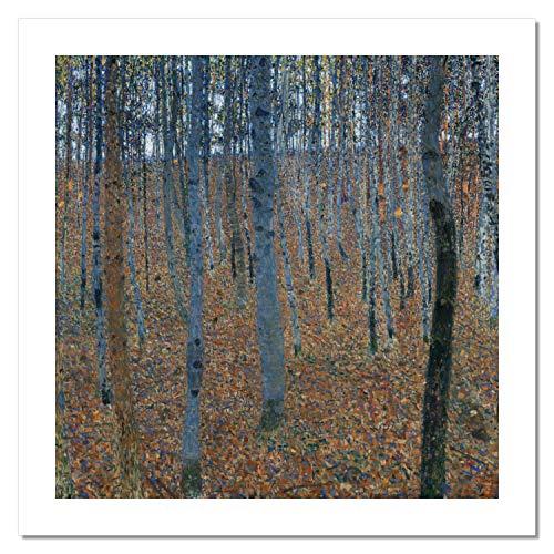 Niik Stampa Foresta di faggi di Gustav Klimt 100 x 99 cm Falso d'autore su Tela