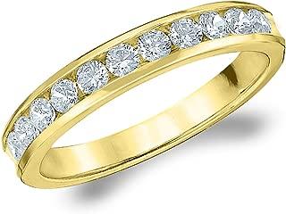 50CT Symphony Channel Set Diamond Wedding Ring, 1/2CTTW Diamond Wedding Band in 14K Gold
