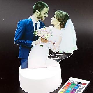 Lampada led interamente personalizzata con foto incisione e nella forma che preferisci idea regalo San Valentino innamorat...
