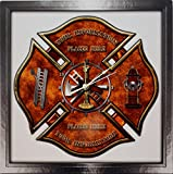 ETTA Clock Personalized Maltese Cross Firefighter - Fireman Aluminum Shadow Wall Clock …