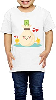 コインと紙幣の背景に美しいバッグ 子供服 キッズ 半袖 Tシャツ 綿100% 4 Toddler