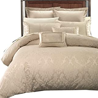 Wholesalebeddings Sara Jacquard Cotton Blend, King-California King 7PC Cover Set, Multi-Tone of Beige