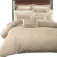 Wholesalebeddings Sara Jacquard Cotton Blend, Full-Queen 7PC Cover Set, Multi-Tone of Beige