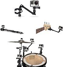Hooshion The Jam Music Guitar Drum Mic Instrument Stand Mount Gooseneck Jaws Flex Clamp 360 Degree Rotation for GoPro Hero...