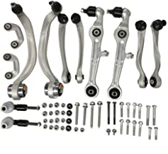 DRIVESTAR 8E0498998S1 Control Arm Kit for 2000-2008 Audi A4, 2000-2008 Audi A4 Quattro, OE-Quality New Front Suspension Control Arm Kit Bolt Kit, Upper&Lower Control Arms Tie Rod Ends Sway Bar Links