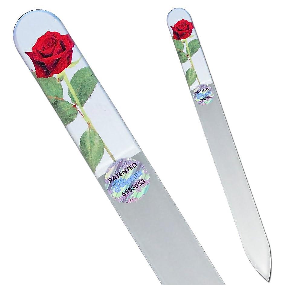 ショルダー不確実ものブラジェク ガラス爪やすり 140mm ローズ02フォト両面タイプ[Rose02]