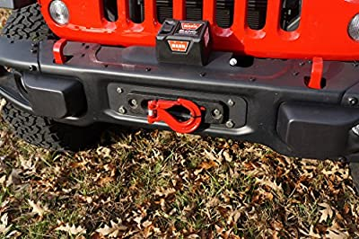 Rusty's Off-Road Winch Mount for Hard Rock Bumper - Compatible with Jeep Wrangler (JK)