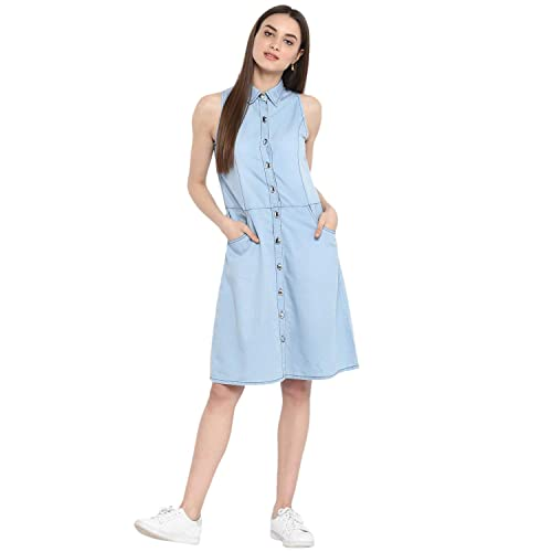 90b8157f14 Denim Dress  Buy Denim Dress Online at Best Prices in India - Amazon.in