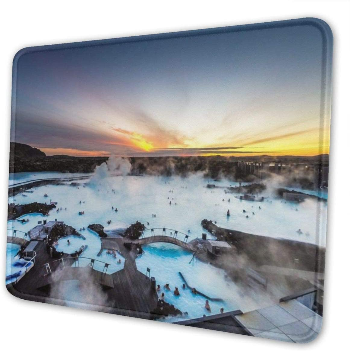 Iceland Blue Lagoon Mouse Pad Edge Stitched with Max 79% OFF Premium-Textur A surprise price is realized