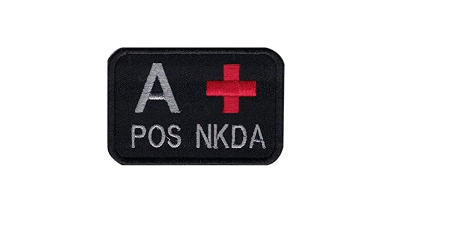 DREAM ARMY Blood Type A+ B+ AB+ O+ POS NKDA Morale Patch Hook Backing