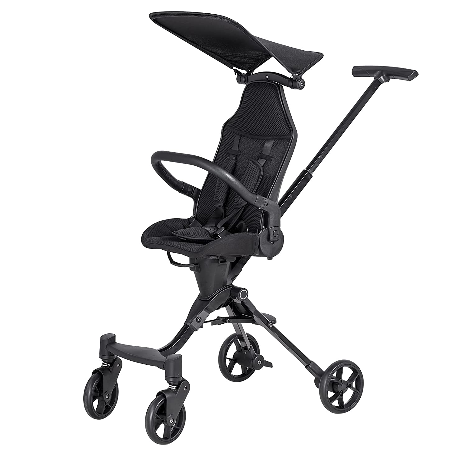 Googa Lightweight Stroller Foldable Ultra Compact Travel Baby Stroller with Breathable Mesh Design (Black)