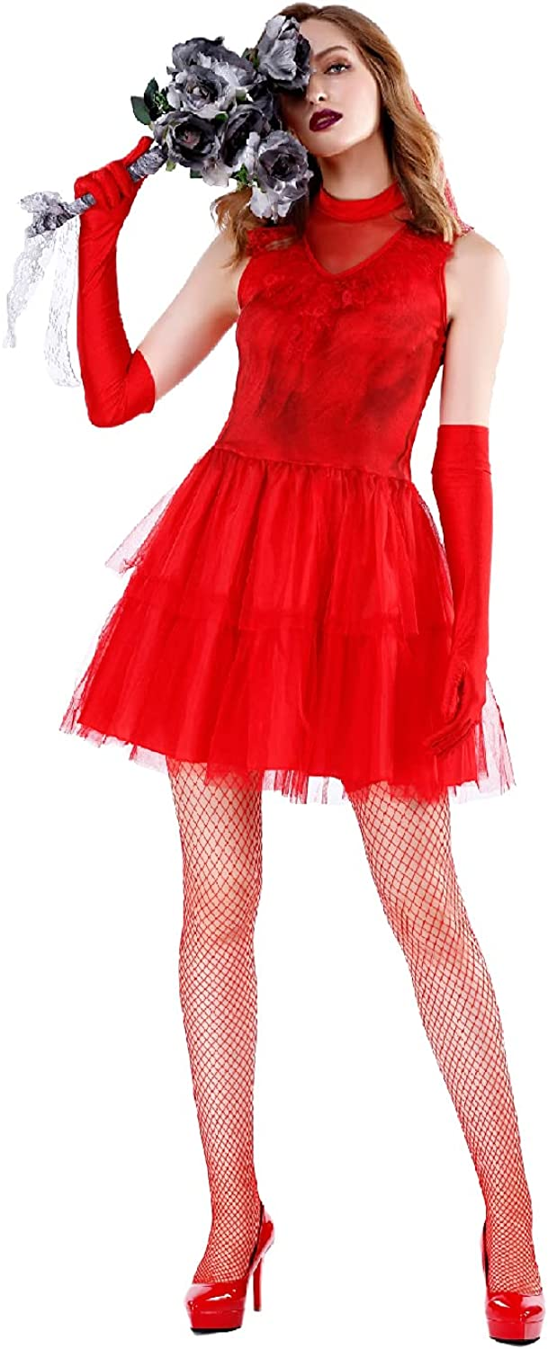 Quenny Halloween Tulsa Mall cosplay costumes adult ghost stage bride co Trust red