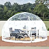Inflatable Bubble Tent House Camping Tent 12ft, Garden Outdoor Clear Dome Geodesic Dome 5-7 Person for Backyard Patios Sunbubble, Canopy Gazebos Screen House Room Lean to Greenhouse