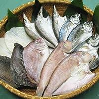 クール便 国安青果 鮮度抜群CAS冷凍品天然魚 宇和海朝獲れ鮮魚の「一夜干し13枚セット」(真鯛1枚、メイタカレイ2枚、アマダイ2枚、カマス3枚、釣アジ3枚、スミイカ2枚)