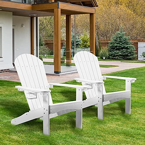 Adirondack Chair Set of 2, Lifetime Poly Adirondack Chairs...