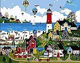 Diy Pintura Al Óleo Digital Parque De Atracciones Digital Pintura Al Óleo Regalo Para Adultos Niños Pintura Por Numero Kits Decoración Del Hogar 40 * 50