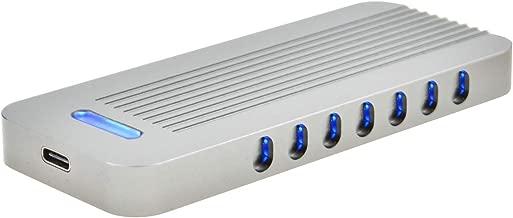 ADWITS USB 3.1 UASP a PCIe NVMe M.2 2230/2242/2260/2280 SSD de Alto Rendimiento Adaptador, Carcasa de Caja Externa para WD Black, Samsung 960 970 EVO Pro Unidad de Estado sólido y más, Gris Oscuro