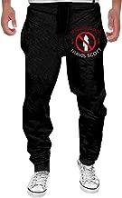 Men's Travis Scott Logo Fleece Sweatpants Black Cool