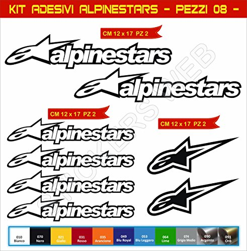 Adhésifs Stickers pegatina Alpinestars Moto Motorcycle cod. 0645 (Nero cod. 070)