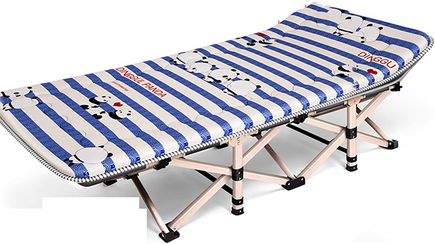 Hammocks & Loungers Adult Bed Camping Siesta Lounge Chair Office Bed Folding Bed Single Bed (color   bluee1, Size   190  71  36 cm)