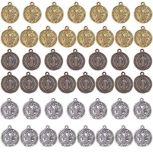 SUNNYCLUE 1 Caja 45pcs Religiosa Milagrosa San Benito Medalla Protección contra el...