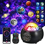 [2021 UPGRATED]Galaxy Projector,Night Lights Projector for Livingroom Ceiling Projector, Bluetooth Music Player Mutiple Solar System Projector for Kids Adult Festival Party & Holiday, Home Planetarium