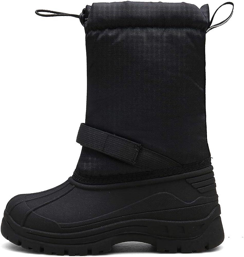 JACKSHIBO Botas de invierno para niñas y niños, botas de ...