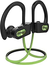 Mpow Flame Bluetooth Headphones Sport IPX7 Waterproof Wireless Sport Earbuds, Richer Bass HiFi Stereo in-Ear Earphones, 7-9 Hrs Playback, Running Headphones W/CVC6.0 Noise Cancelling Mic, Lime Green