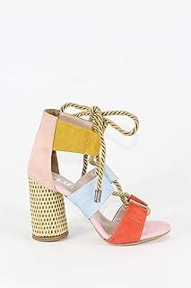 Halat Bağcıklı Çok Renkli Hasır Topuklu Kadın Ayakkabı - Offex