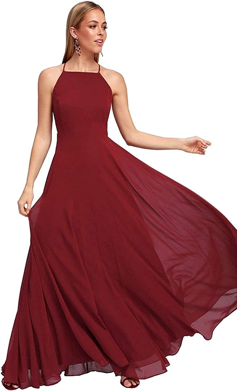 FTBY VNeck Long Prom Dress Satin Pleated Party Grown Beaded Long Formal Evening Dresses